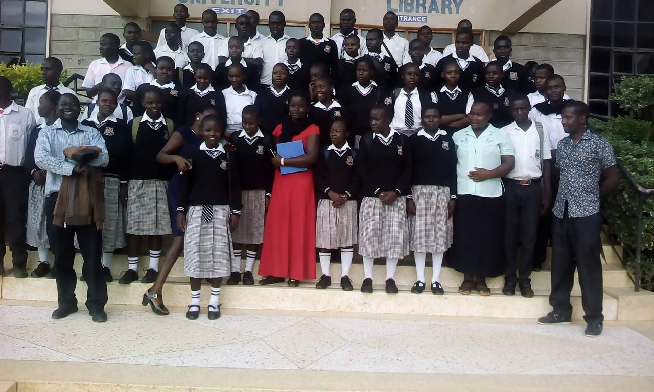 Different Secondary School Visit Kibabii University Library